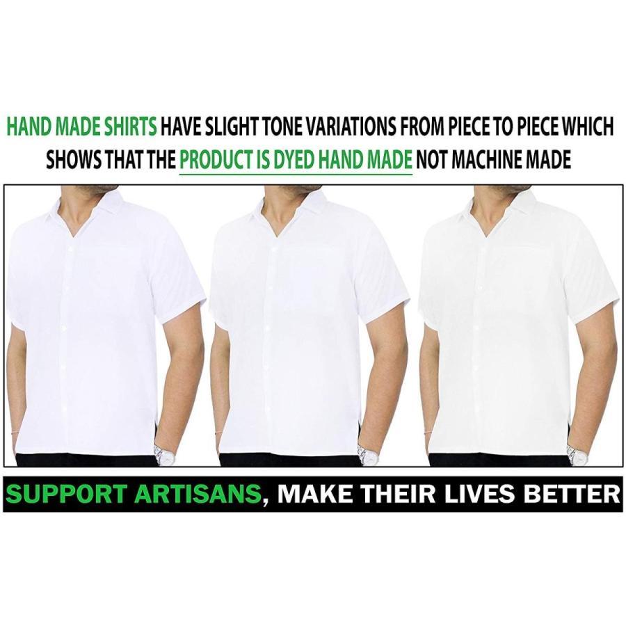 本物の LA LEELA Rayon Vintage Casual Camp Party Shirt White 85 XL | Chest 48