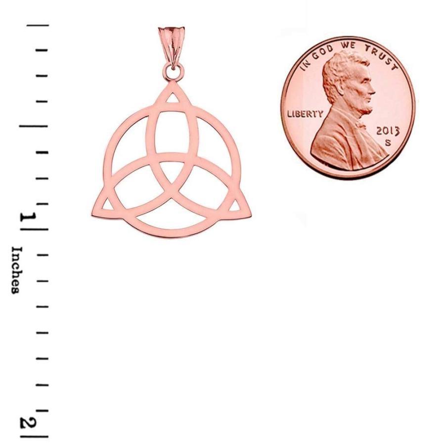 新規購入 Elegant Knot 10k Rose Life Gold Celtic Trinity Knot Circle Elegant of Life Silhouette Pe, 人差し指通販:b6f88c7b --- airmodconsu.dominiotemporario.com