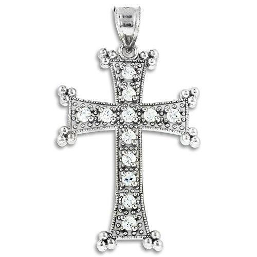 最初の  Religious Jewelry by FDJ Sterling Silver Armenian Cross Pendant, 犬雑貨専門店 銀屋 d24e61af