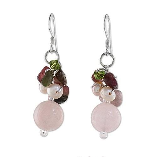 【大放出セール】 NOVICA Cultured Freshwater Pearl and Dyed Quartz Earrings with Sterlin, 志雄町 07eabc7f