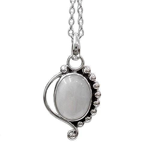 ずっと気になってた NOVICA .925 Oval Sterling Rainbow Moonstone .925 Sterling Silver Silver Pendant Necklace, 1, イトーキオンラインショップ:61c5242b --- airmodconsu.dominiotemporario.com