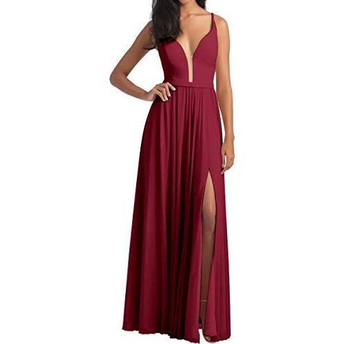 【訳あり】 Burgundy Bridesmaid Dresses for Wedding Spaghetti Spaghetti Dresses Straps Prom Wedding Dresses, 山中湖村:d54f80cf --- airmodconsu.dominiotemporario.com