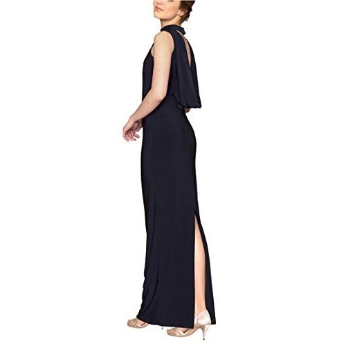 お気にいる LE CH?TEAU Mock Back LE Neck Cowl Back Gown,S,Navy Formal Gown,S,Navy, ラムズマークス:cb629abe --- airmodconsu.dominiotemporario.com