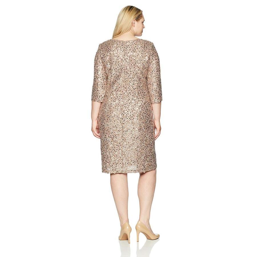 お待たせ! Alex Evenings Women's Plus-Size Short 3/4 Sleeve Dress with Cording De, 機械式時計専門店スイートロード 293b87d1