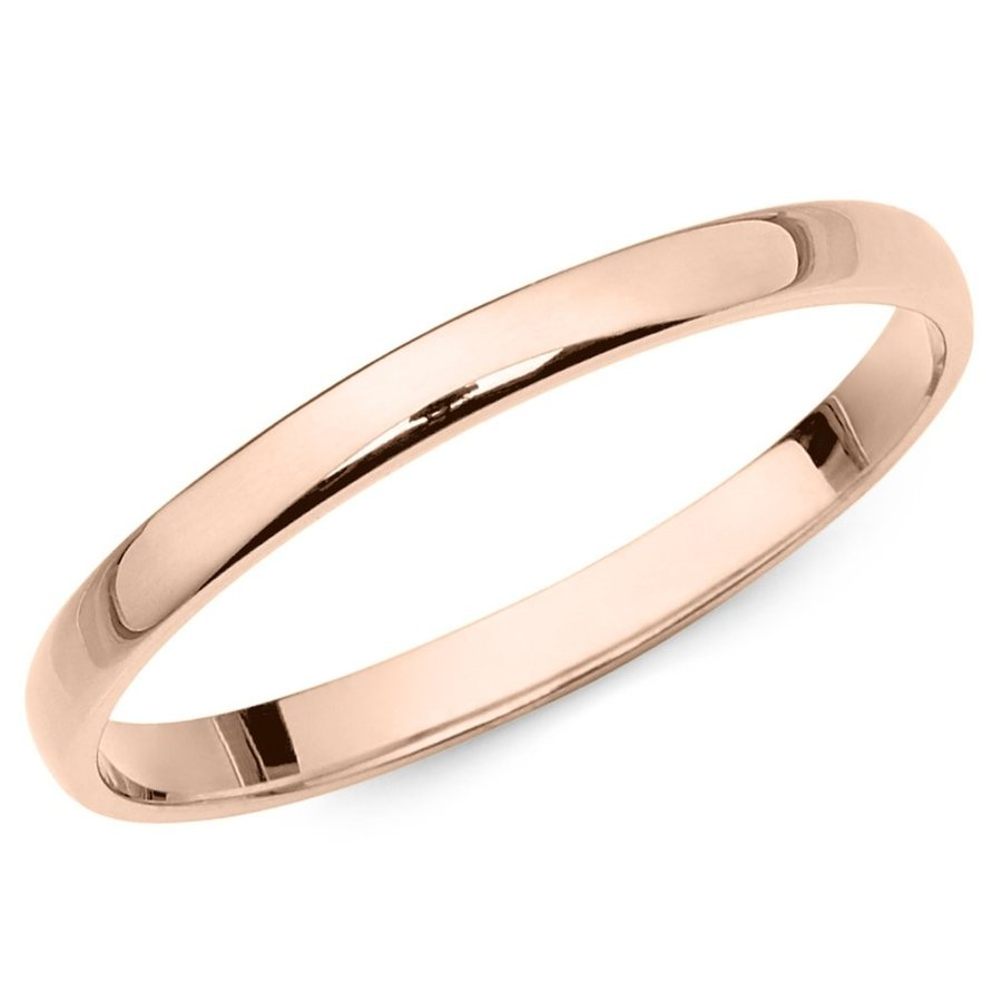 【激安大特価!】 10k Rose Size Fit 10k Gold 2mm Light Comfort Fit Plain Wedding Band - Size 5, 岩手郡:d40eb208 --- airmodconsu.dominiotemporario.com