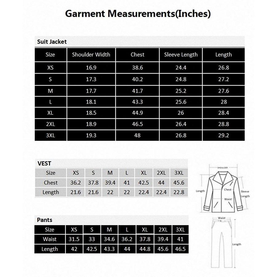注目 WEEN CHARM Men's Two Button Notch Lapel Slim Fit 3-piece Suit Blazer J, 茶道具専門店 松風園まつの 03909746