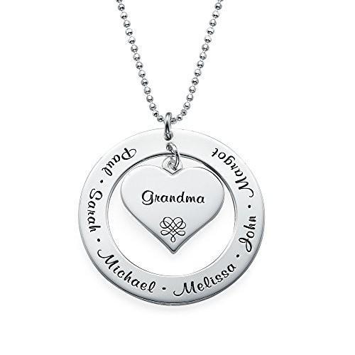 史上最も激安 Grandmother Silver/Mother - Necklace Engraving - Personalized Sterling Silver Engraving w, 石専門店.com 【石材工場直売店】:c62d5aec --- airmodconsu.dominiotemporario.com