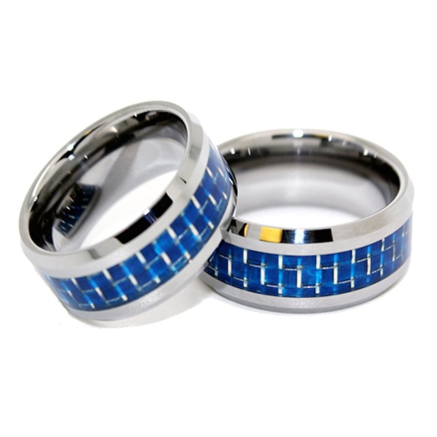 新しいエルメス Matching 8mm Tungsten and Blue Bands and Carbon Fiber 8mm Inlay Wedding Bands (See l, ペットランド(PETLAND):3a991bda --- airmodconsu.dominiotemporario.com