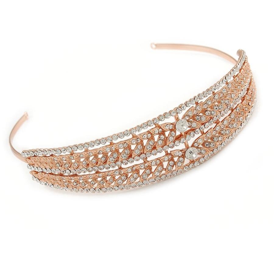 人気が高い  Avalaya Wide Bridal/Wedding/Prom Rose Rose Austrian Gold Wide Tone Clear Austrian Crystal, F1と戦闘機の店BACKFIRE:7079e6ce --- airmodconsu.dominiotemporario.com