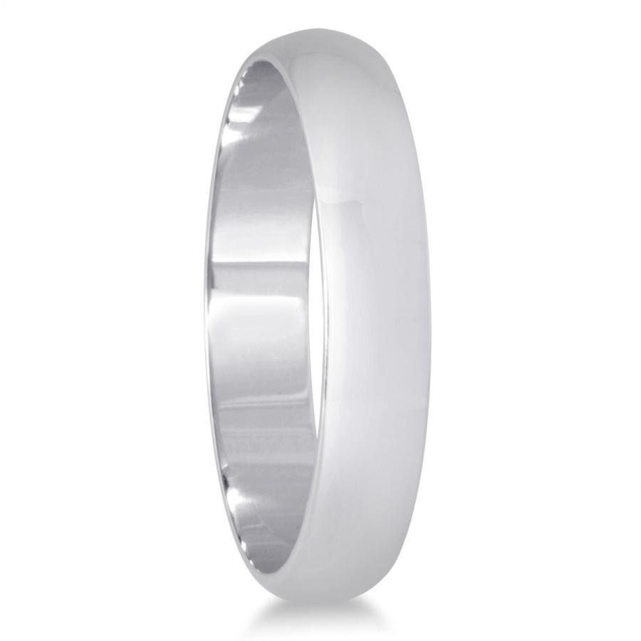 最高 3mm Domed Wedding Band in 10K White Gold, BUMP STORE 21837711
