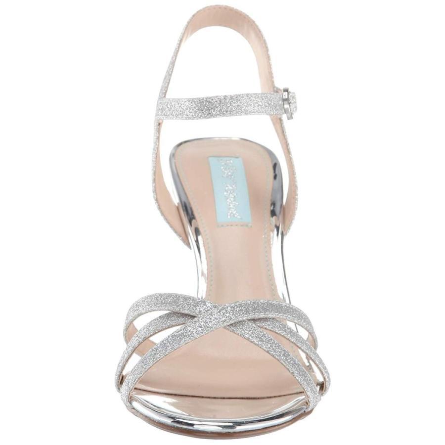 最新発見 Blue by Betsey Johnson Women's SB-Tyler Heeled Sandal, Silver Glitter,, リュウガサキシ 079aa124