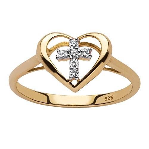 美しい White Diamond Accent 18k Yellow Gold over .925 Sterling Silver Floatin, amer bijoux アメール ビジュー 6242c31e