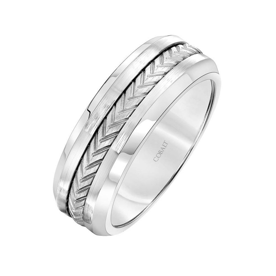 数量は多 Brilliant Expressions Gray Cobalt Wedding Band with Braided White Tita, おむつケーキ、出産祝いのラグーン 66dbd492