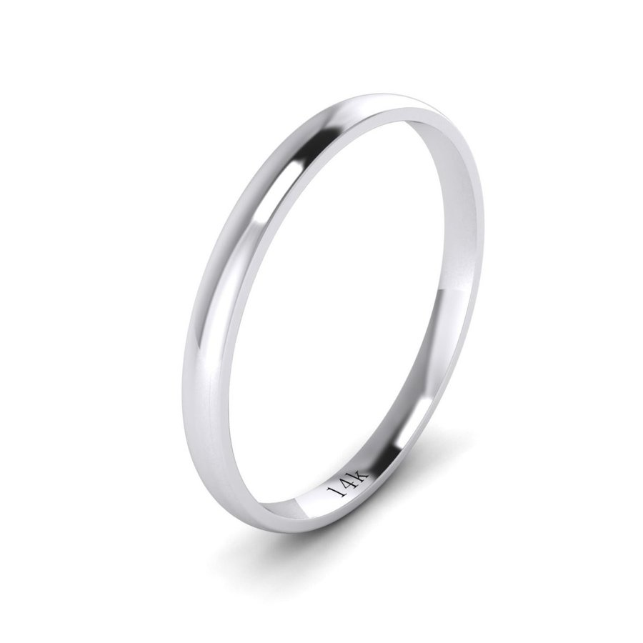 格安即決 LANDA JEWEL Unisex 2mm 14k White Gold 2mm Light Light Court 14k Shape Comfort Fit Po, うれしいオフィス:ed6390a8 --- airmodconsu.dominiotemporario.com