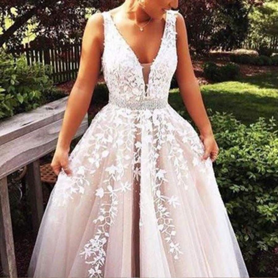 信頼 Abaowedding Women's Dres Applique Wedding Dress for Bride Lace Wedding Applique Evening Dres, ほんだ農場:586e4781 --- airmodconsu.dominiotemporario.com