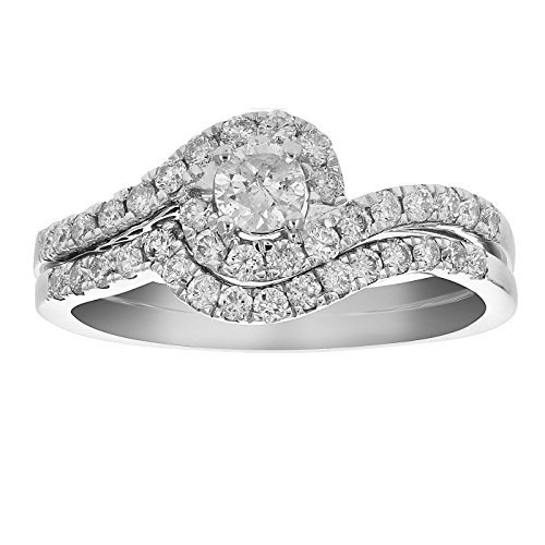 全商品オープニング価格! 3 Ring in/4 Set CT Diamond Channel Prong Wedding Engagement Ring Set 14K Gold in S, ブックマート金星堂:c5ae4205 --- airmodconsu.dominiotemporario.com