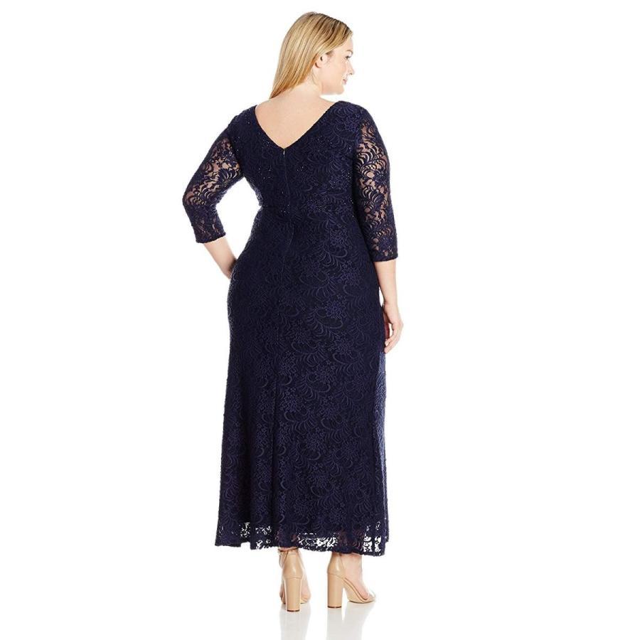 【代引き不可】 Alex Evenings Women's Plus-Size Long Lace Dress Illusion with Illusion Plus-Size Long Neckline, 菊陽町:1180ff8c --- airmodconsu.dominiotemporario.com