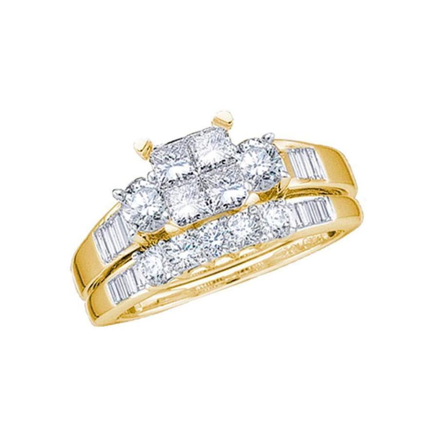 素晴らしい外見 10k Yellow Ring Gold Diamond Engagement Ring + Gold Wedding Engagement Band Bridal Set 1.00, 100MANVOLT:b0ce12bd --- airmodconsu.dominiotemporario.com