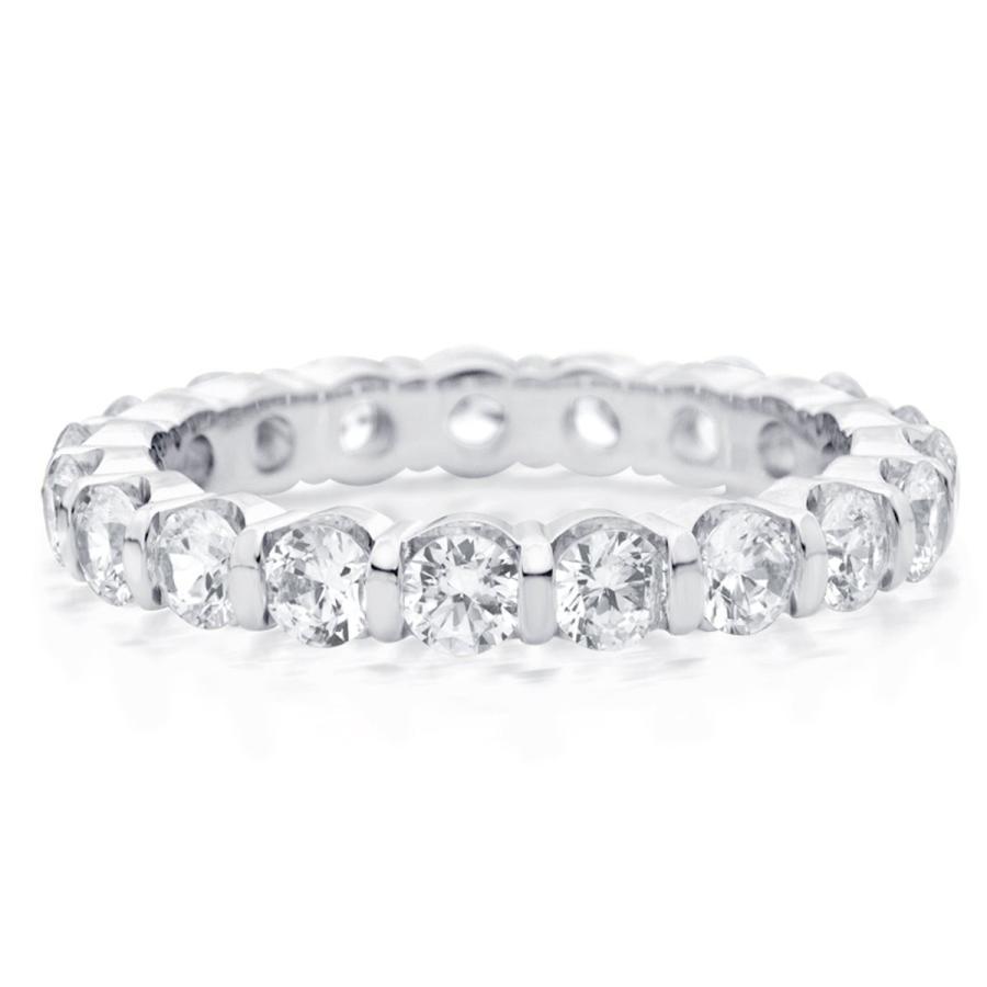 日本最級 2 CT Bar Set Lab 2 Bar Grown Diamond Lab Eternity Ring in 14K White Gold, Sparkl, クレアオンライン:77049b6b --- airmodconsu.dominiotemporario.com