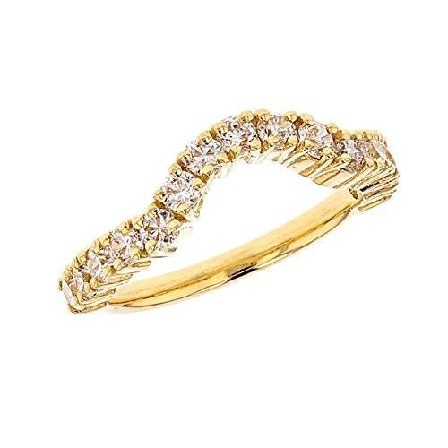 【待望★】 FIne 10k Yellow Gold Ba Modern Chevron Stackable Stackable Yellow CZ Engagement/Wedding Ba, AGATELABEL アガートレーベル:06d1ffe9 --- airmodconsu.dominiotemporario.com