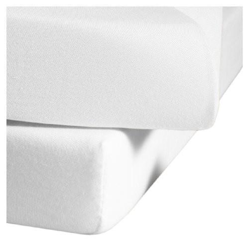 Fleuresse 1212 Fb. 1000 Jersey Bottom Sheet 150 x 200 cm 白い