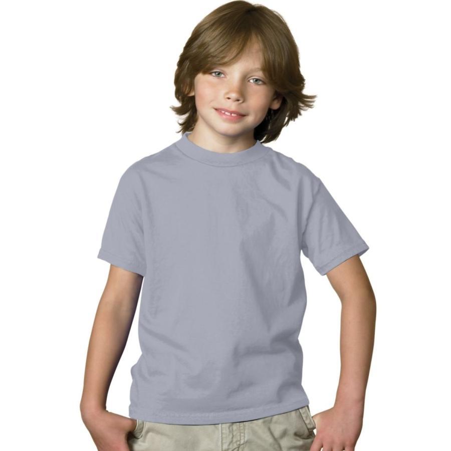Hanes Boys 'タグなしComfortSoftクルーネックTシャツ US サイズ: S カラー: グレー