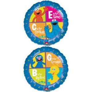 18インチElmo and Cookie Monster Mylar Balloon