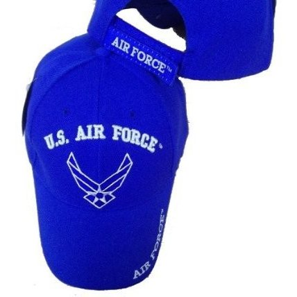 US AIR Force 青 Embroide赤 Adjustable Baseball Cap Logo Hat USAF USA Mil