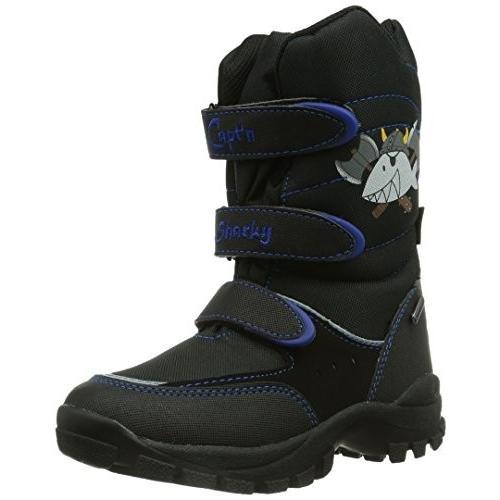Capt·n Sharky Jungen Stiefel, schwarz/blau, 470539-1, Gr 29