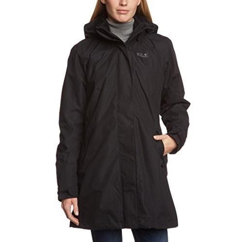 ジャックWolfskin Women· · s Ottawa 3·in 1·Coat US サイズ: L カラー: ブラック