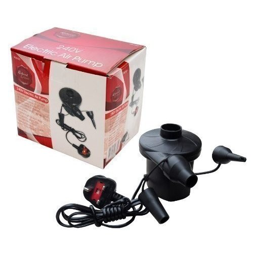 Electric 240V Air Pump Portable Lightweight Air Pump With Three Valve Adapt