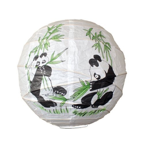 Lighting Lighting Web 36cm Panda Bamboo Irregular Paper Lantern