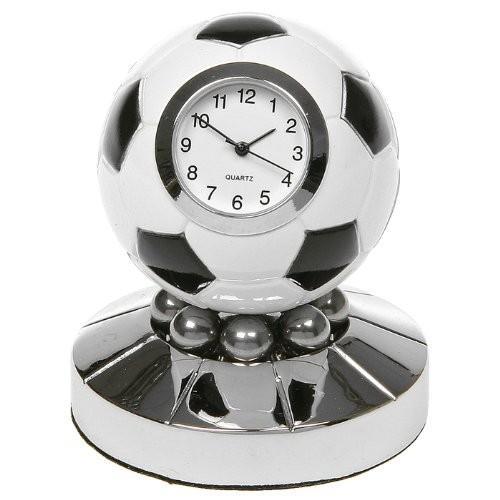 Football Clock - (Techno 黒 and 白い Football Clock Globe)