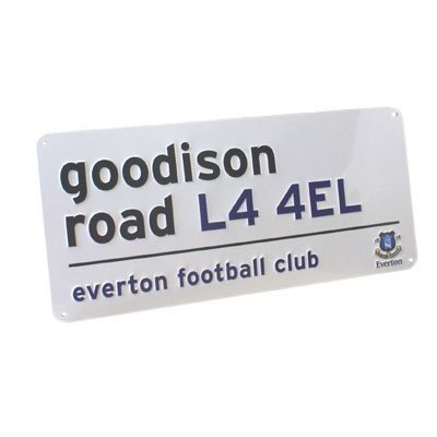 Everton Football Club 'Goodison Road' Street Sign - Great Everton Fan Gift