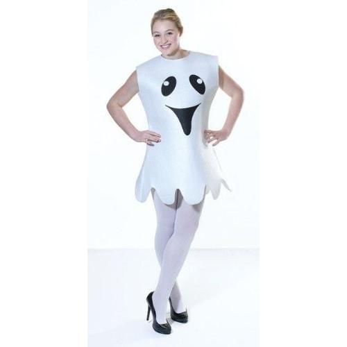 Happy Ghost 2pc Female Halloween Fancy Dress Costume