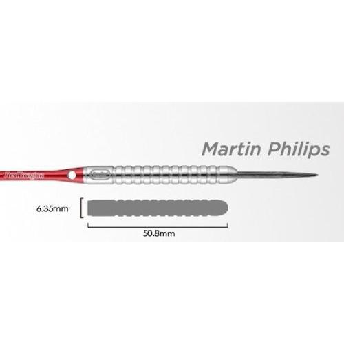 DMP23 赤 Dragon Martin Phillips - 23G - 90% Fl?chettes en tungst?ne (Point