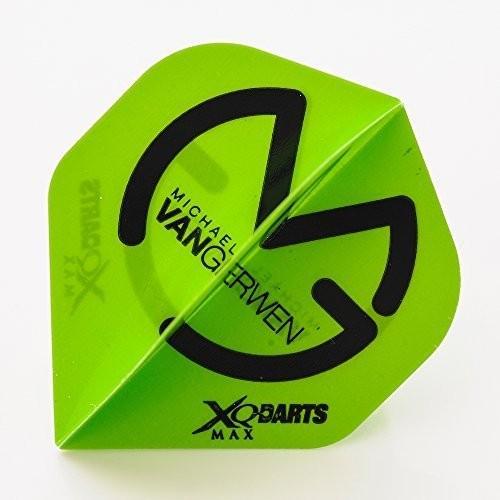 5セットのMVG XQMAXグリーンフライトブラックロゴDart Flights Michael Van Gerwen by Perfectdarts