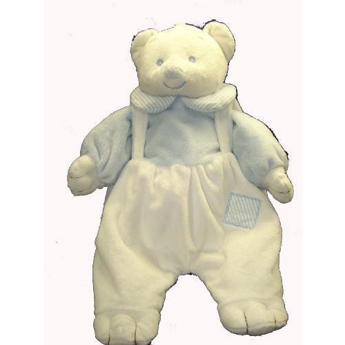 Angel Baby Super Soft Pajama Bag/Diaper Holder 青 Teddy Bear Lovie Banky