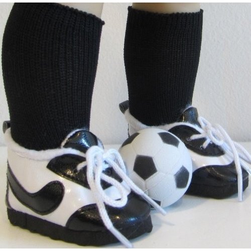 SOCCER SHOES, SHOES, SOCKS + BALL Fits American Girl Doll and 46cm Doll Shoes