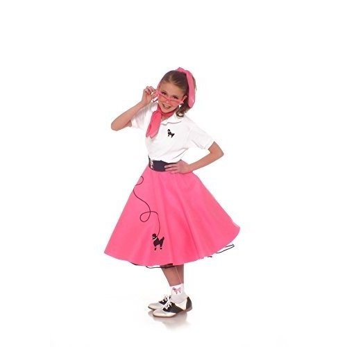 Hip Hop 50s Shop(ヒップホップ50sショップ)プードルスカート衣装7点セット 10 ピンク unknown