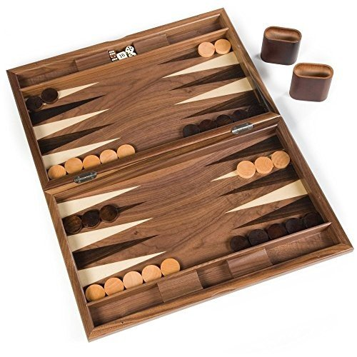 19 Inch Wood Pinwheel Backgammon Set by Wood Expressions by WE Games