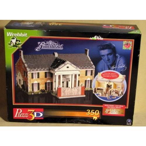 Elvis Presley Graceland, 350 Piece 3D Jigsaw Puzzle Made by Wrebbit Puzz-3D