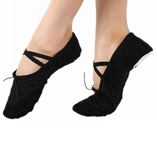 ソフトキャンバスバレエダンス体操靴Fitness FR:41,US Adult:9,UK:7,AU:8 ブラック
