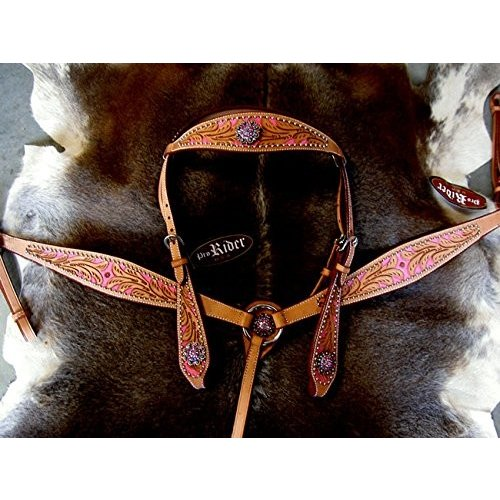 品質満点 Horse Western RidingレザーBridle Headstall Breast襟タックピンク76156, ジェネシスH2ウォーター cd89d2c3