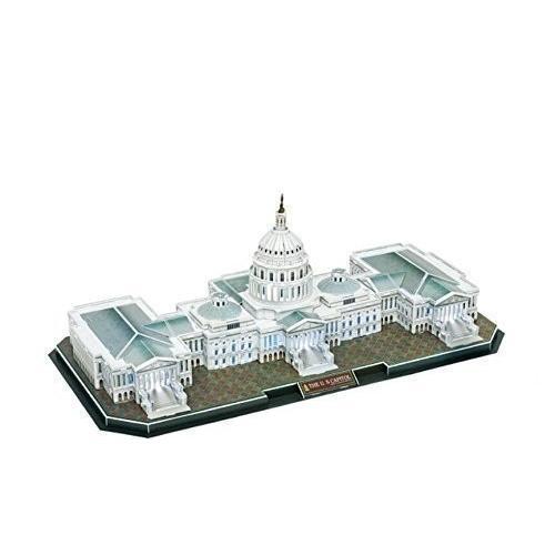 WISDOMTOY 3d刺激建物モデルキットサウンドコントロールLEDジグソーパズルおもちゃ、The Capitol Hill