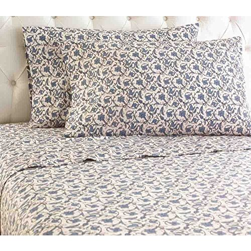 Shavel Micro Flannel Sheet Set, Queen, Jacobean by Shavel Home Products