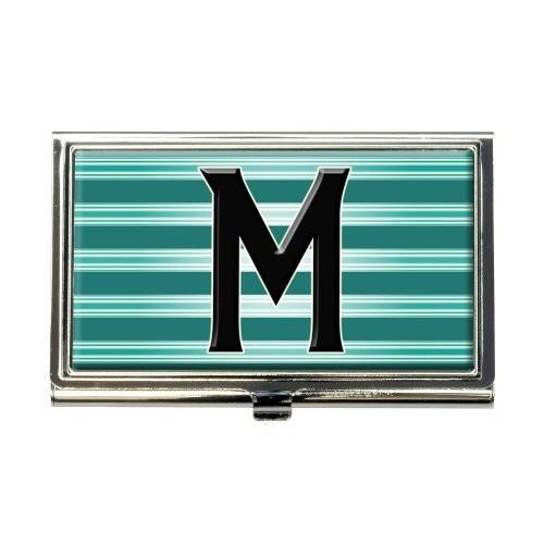 手紙M初期ブラックティールストライプビジネスクレジットカードホルダーケース 手紙M初期ブラックティールストライプビジネスクレジットカードホルダーケース