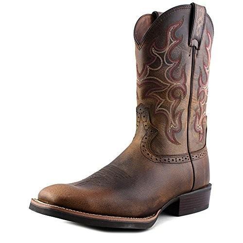 JustinメンズシルバーCattleman Cowboy Boot Square Toe???sv7216 ブラウン