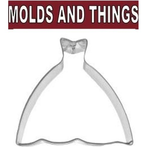 Princess Ball Gown / Wedding Dress 4 1/2 Cookie Cutter by MOLDS AND THINGS