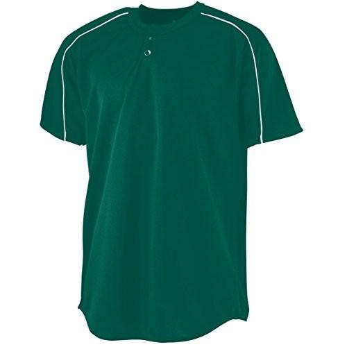 Augusta Sportswear Boys ' Wicking 2つボタン野球ジャージー M